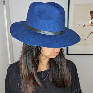 Blue Wool Bolero Hat